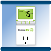 Energy monitor thermostat on wall