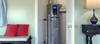 Water heater in a closet